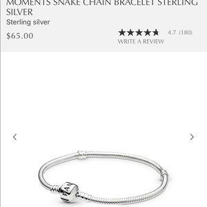 Pandora silver bracelet